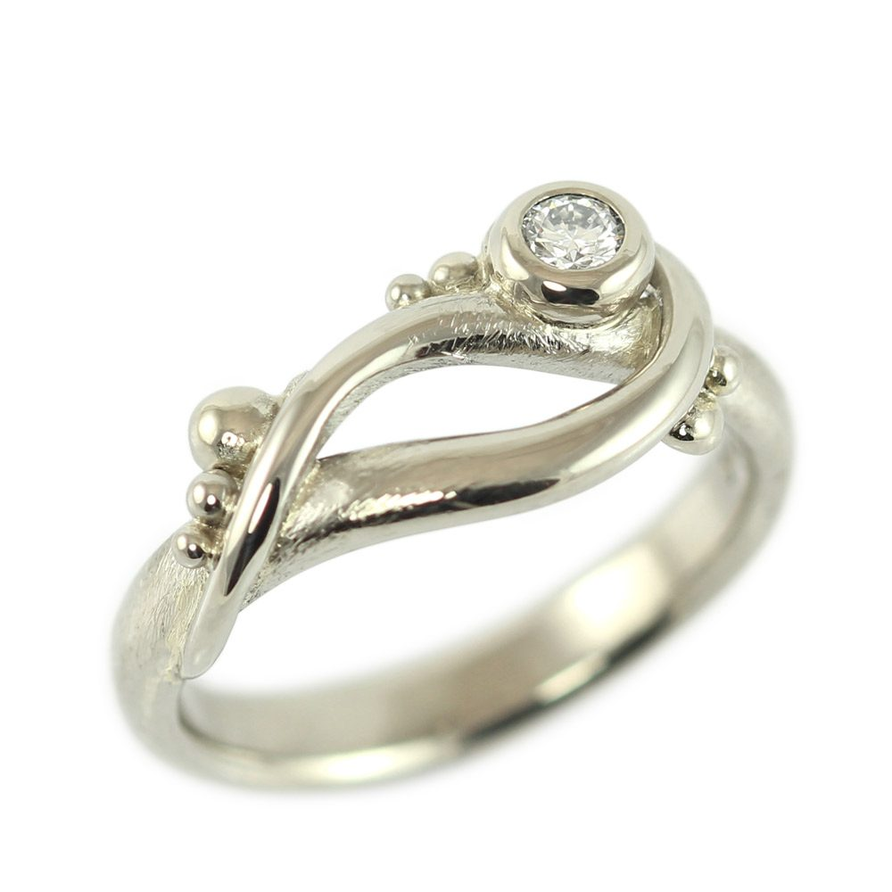 ruth unique from tomlinson rings diamond asymmetrical products cut engagement ring champagne rose