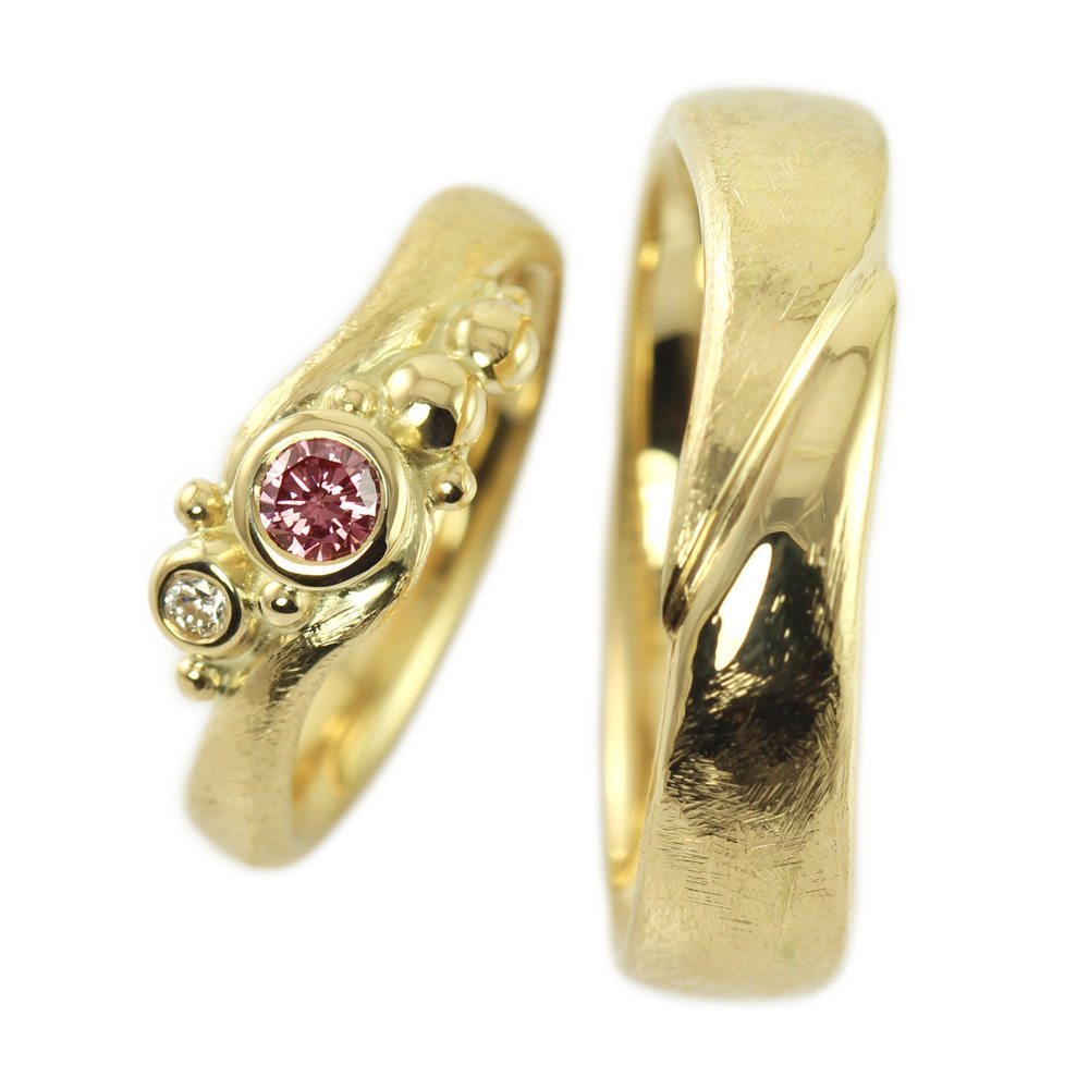 Dragonling Luxury Fairytale Jewelry Wedding Rings With Pink Diamond
