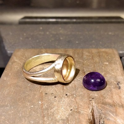 Gammelt guld ny ring