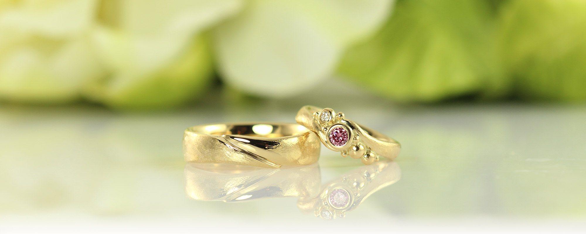 Håndlavede Vielsesringe Unikke Smykker Hos Castens Wedding Rings With Pink Diamond