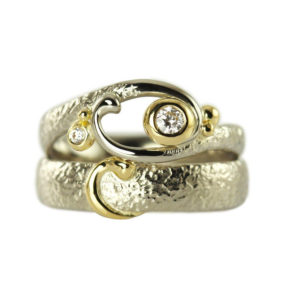 Dragonling Luxury Fairytale Jewelry Elegant Embrace Wedding Rings