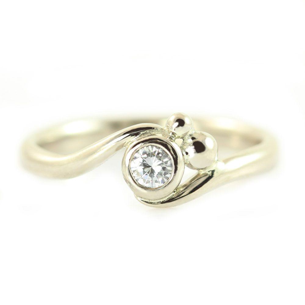 diamant ring hvidguld